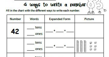 Homeschool Parent: 4 Ways to Write A Number Free Printable
