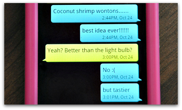 Coconut Shrimp Wontons