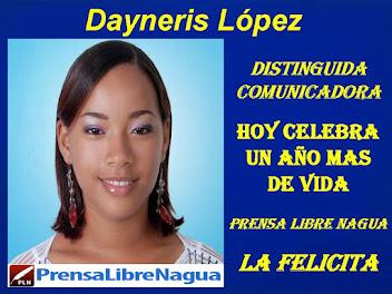 ELLA ES DAYNERIS LOPEZ…ESTA HOY DE CUMPLEAÑOS