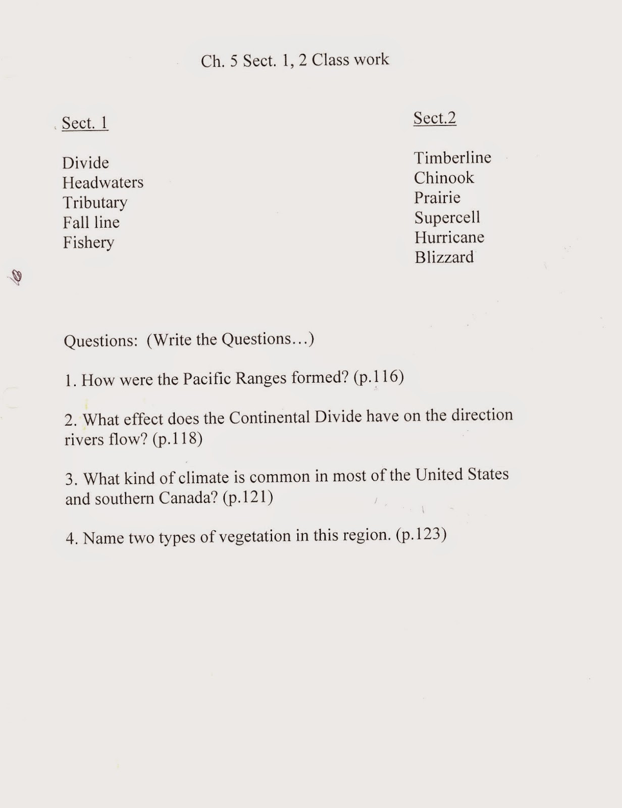 chapter 5 the physical geography of the united states and canada