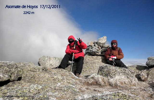Cumbre Asomate de Hoyos, desde Puerto de la Morcuera