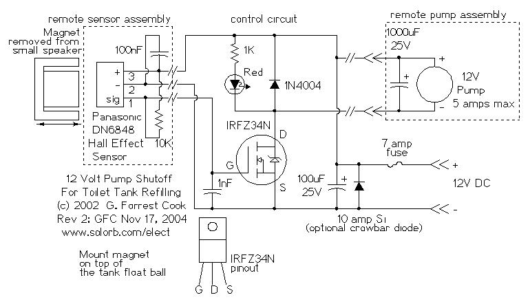 12 Volt Toilet Tank Refiller circuit