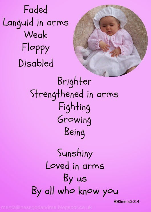 poem. We love you Littlie. Special needs, disability.