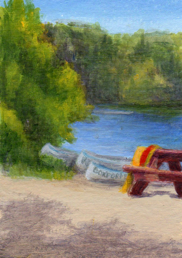 Debbie Shirley Art Pond S Edge Small Aceo Landscape