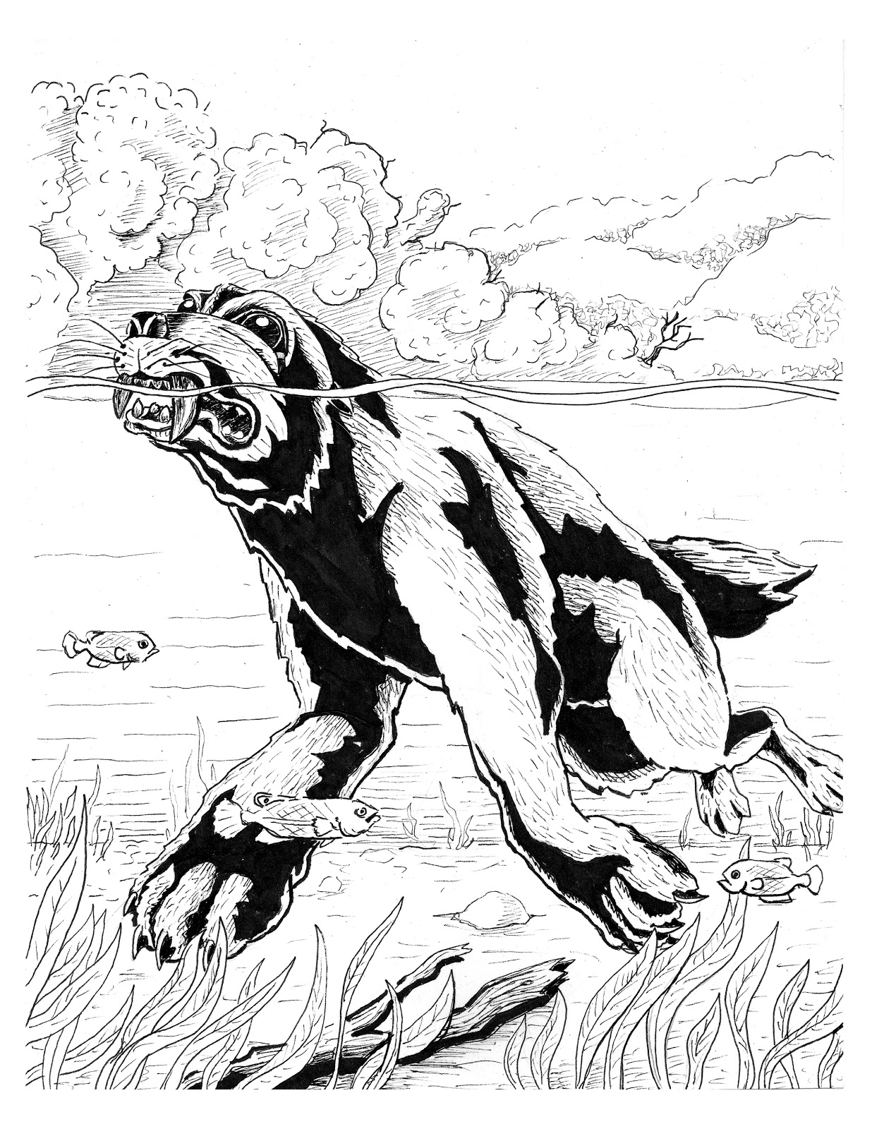 jake lagory illustrator cryptozoology coloring book pages 1 6