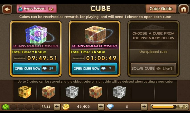 Cara Bug Cube Lets Get Rich