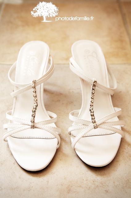 chaussures de la mariee