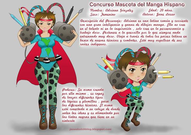Personaje manga creado por Jane Lasso para concurso del Manga Hispano