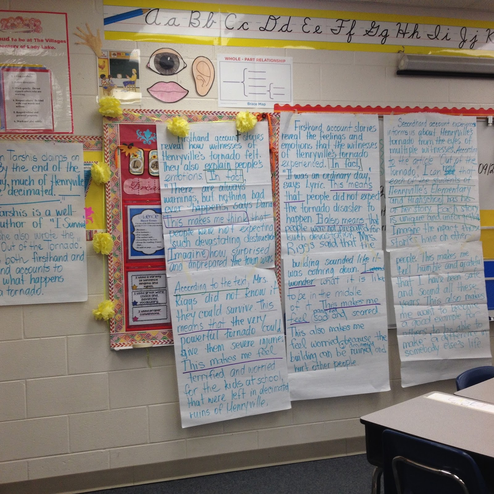 teacher blog writing core connections  you will also notice that we worked on certain transitional words for both text evidence and elaboration parts of the essay