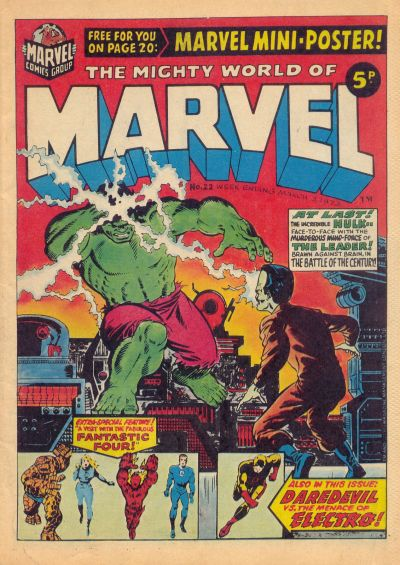 Mighty World of Marvel #22, Jim Starlin cover
