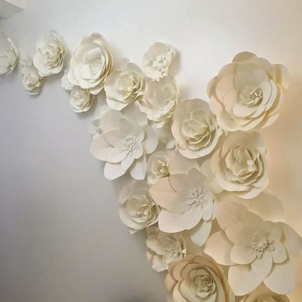 Floating Paper Flowers Wall Art!