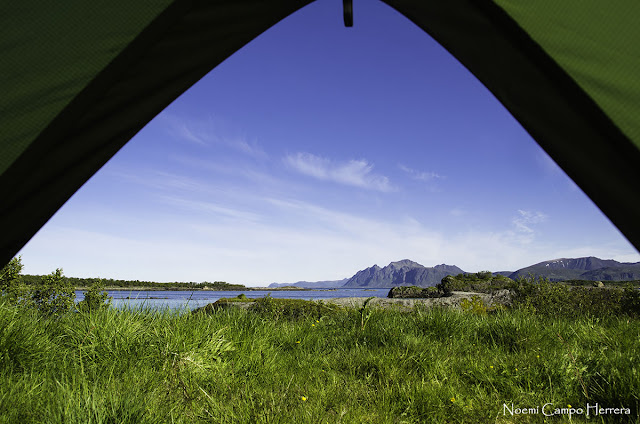 islas Lofoten desde la tienda