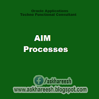 AIM Processes, askhareesh blog for Oracle Apps