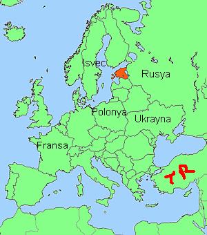 Estonya'nın Haritadaki Yeri