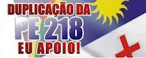DUPLICAÇÃO DA PE 280 EU APOIO!