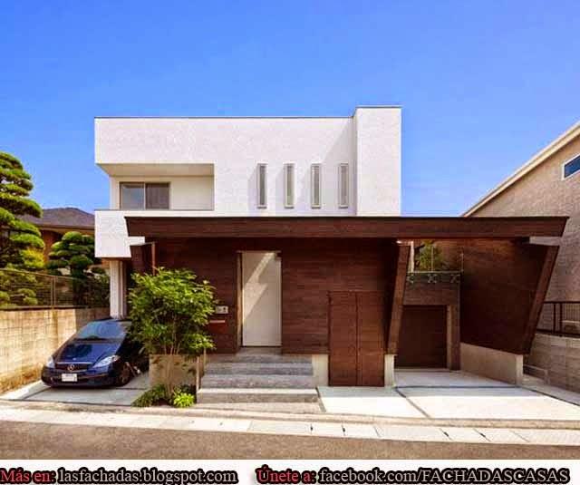 Fachadas de casas modernas con cochera fachadas de casas for Garajes originales