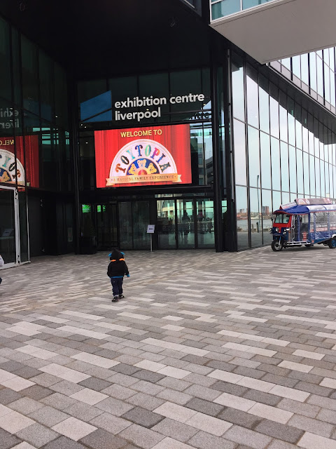Entrance to Liverpool Exhibition Centre for Toytopia Event