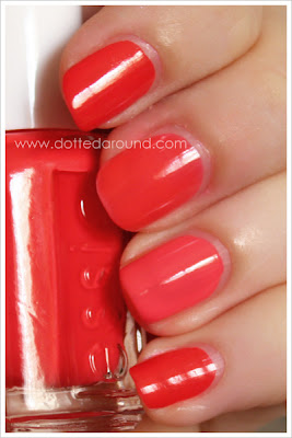 Essie Spring 2012 Ole Caliente swatches comparison Kiko nail polish