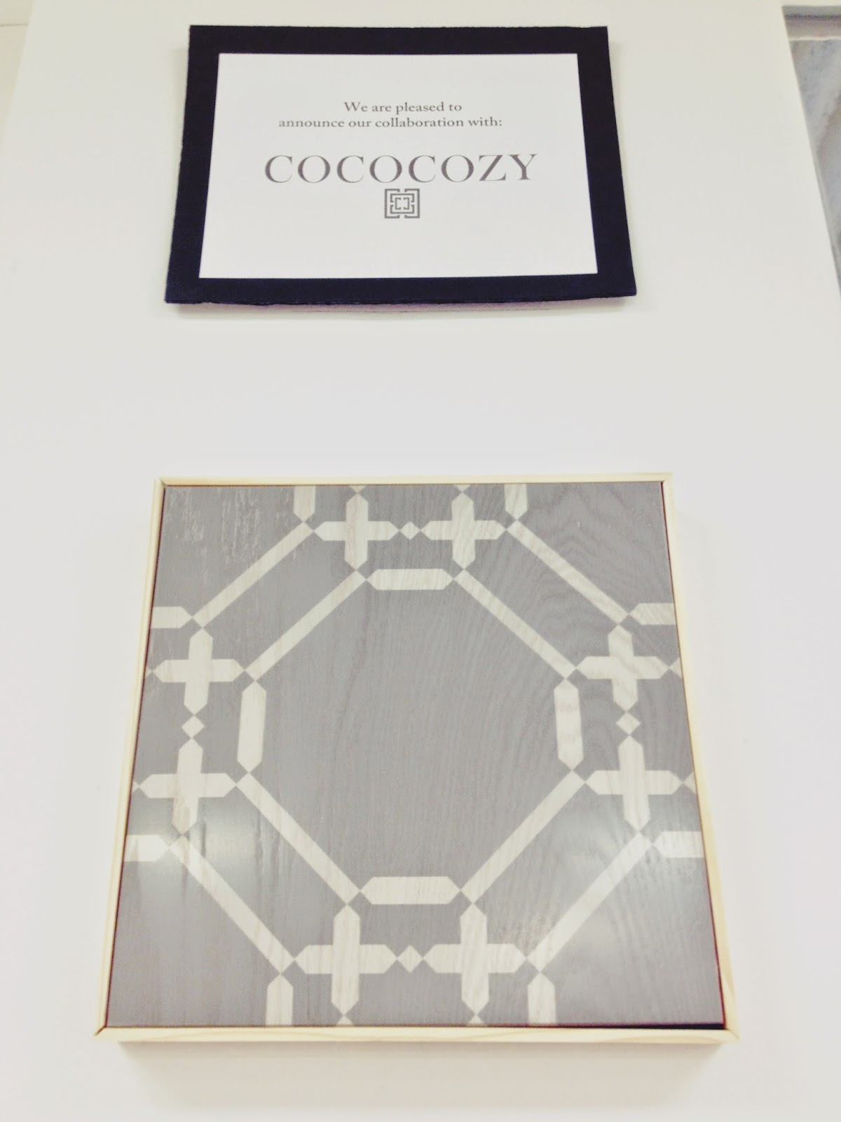Gray COCOCOZY Ring wood floor tile