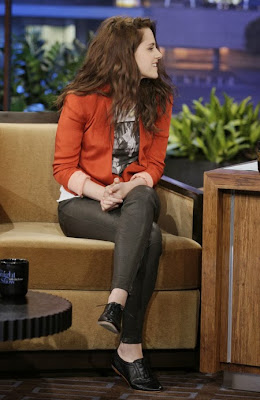 oxford shoes Kristen Stewart Jay Leno