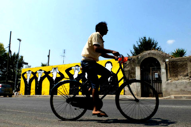 Street Art Mural By MP5 In Terracina - Bycicle