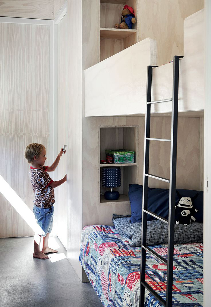 built-in beds in children's rooms