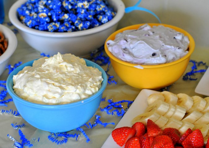 minions inspired fruit dips
