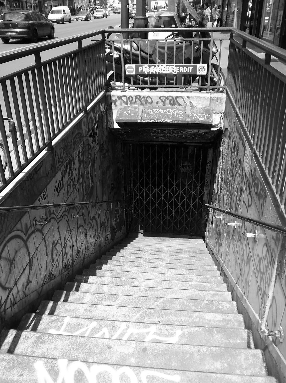 Bouche de m tro condamn e porte de clignancourt - Metro porte de clignancourt ...