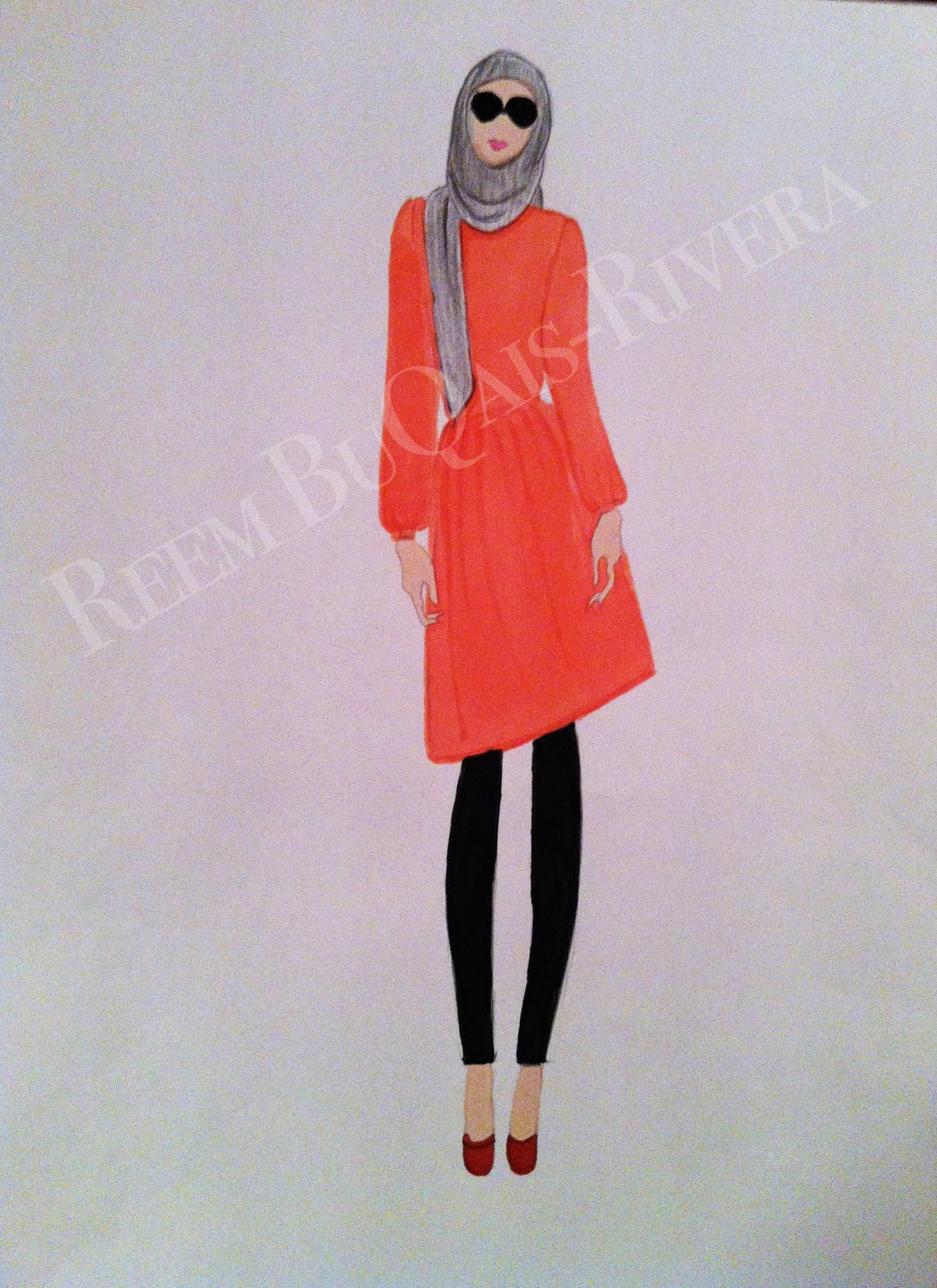 Piffy My First Hijab Fashion Illustration