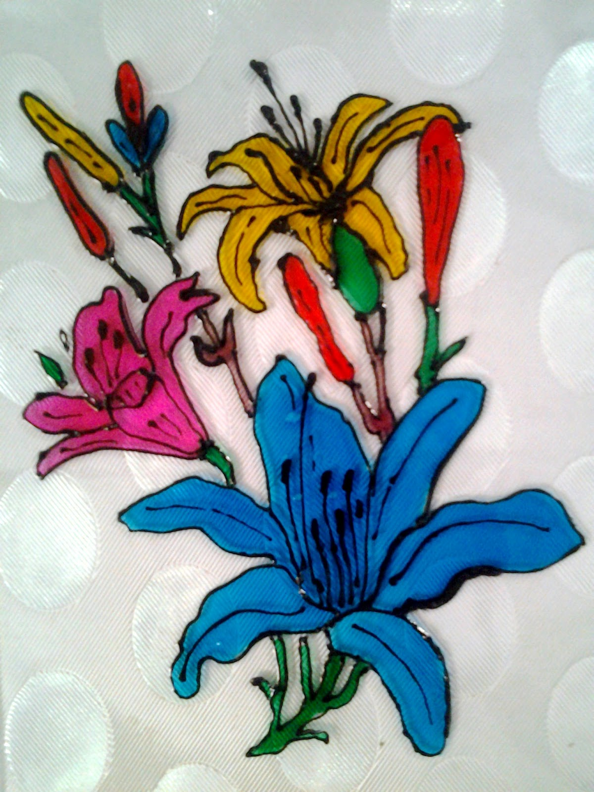 Explore Your Talent Glass Painting Beautiful Flowers