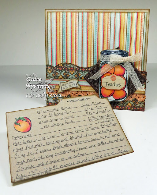 ODBD Stamps: Peaches, Garden Mini, Blue Ribbon Winner, designed by Grace Nywening