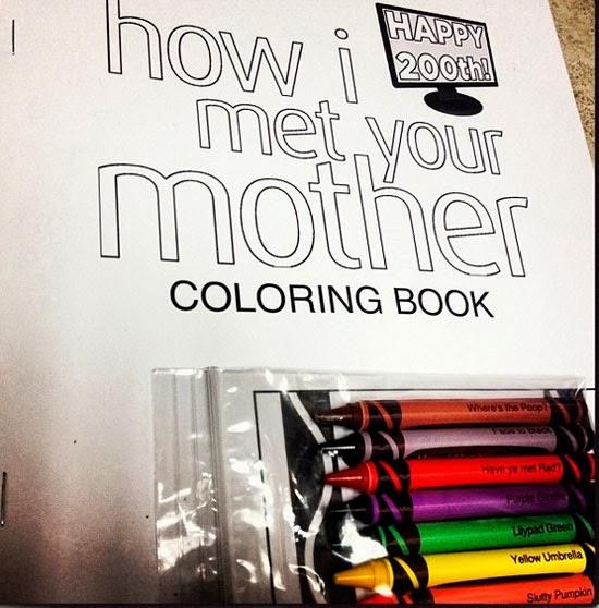 Libro de colorear de como conoci a vuestra madre