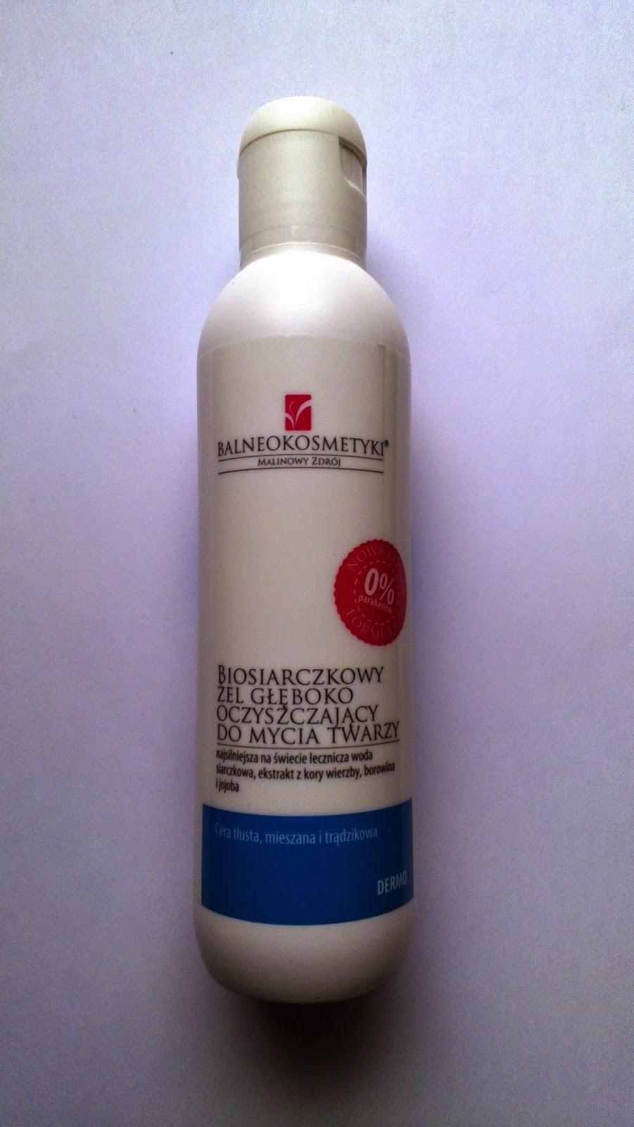 Balneokosmetyki - Biosiarczkowy żel głęboko oczyszczający do mycia twarzy