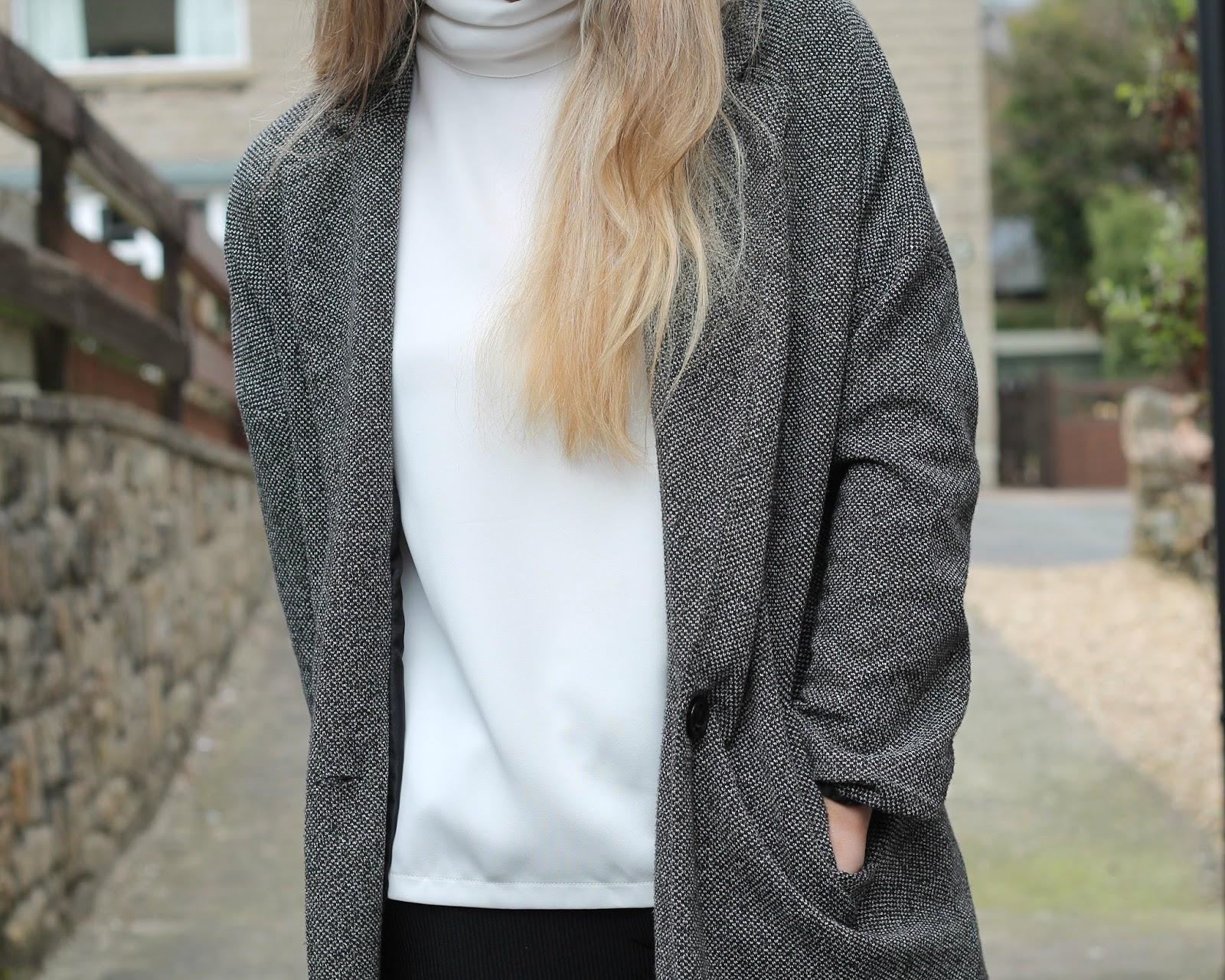 grey boyfriend coat a fedora fashion influx #1: img 7812