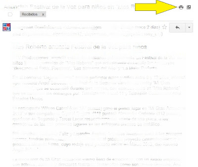 imprimir un documento en gmail