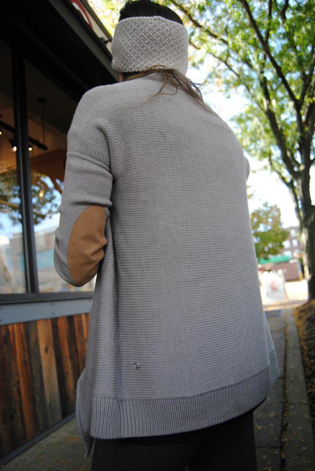 lululemon wrap it up sweater gray