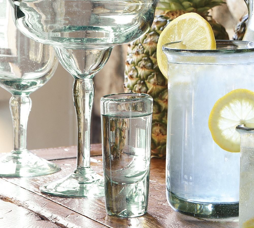 barns posted santino pottery the barn recycled glassware design by behind