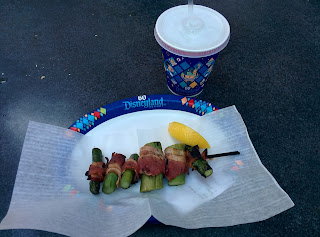 Bacon-wrapped asparagus Disneyland 60th Anniversary Diamond Birthday Celebration