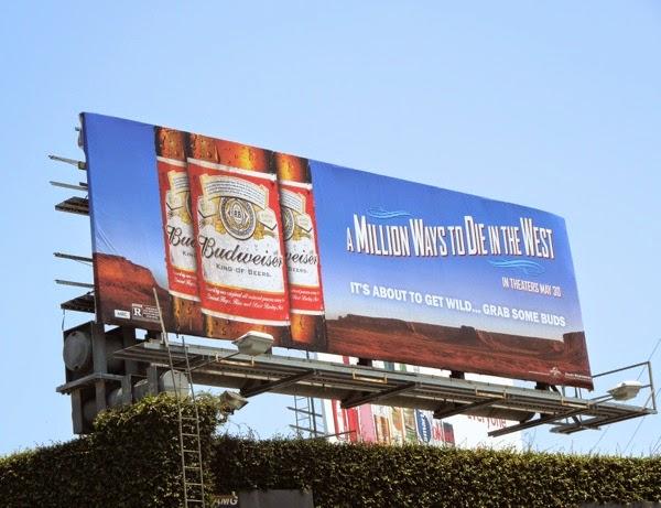 Budweiser Million Ways to Die in the West billboard