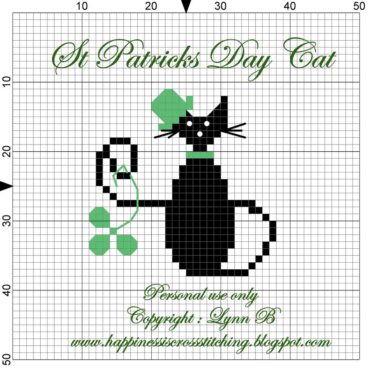 Free Black Cat Cross Stitch Patterns