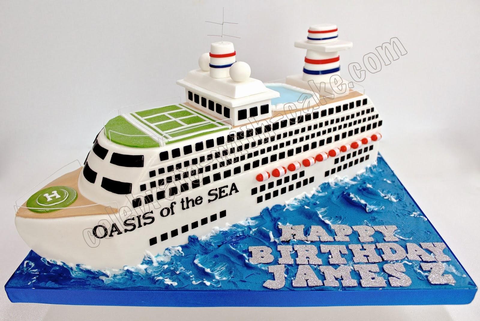 Celebrate With Cake Cruise Ship - Cruise ship cake
