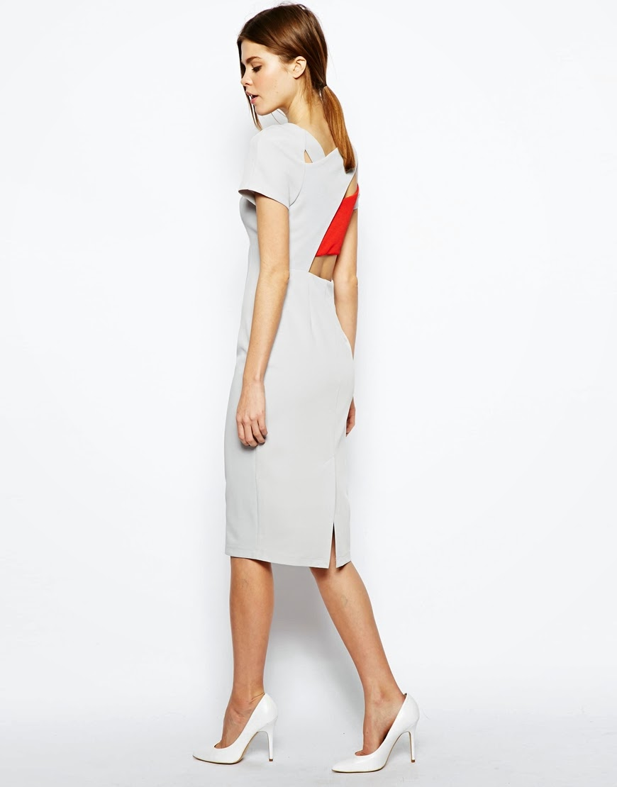 light grey pencil dress