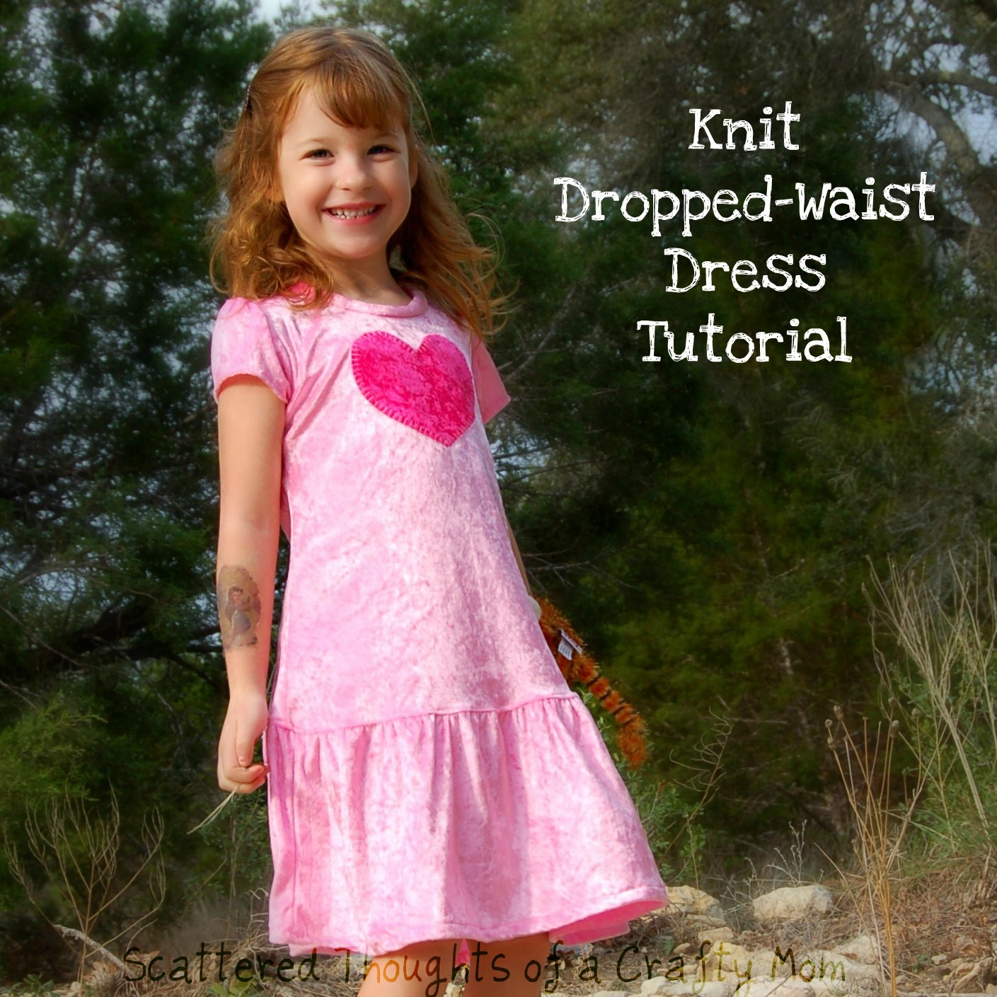Dropped-Waist Knit Dress Tutorial with Pattern - Scattered Thoughts ...