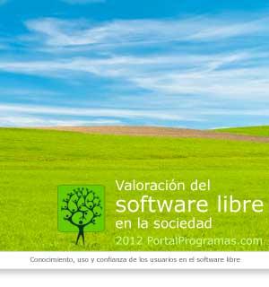 Informe valoración software libre 2012, portalprogramas