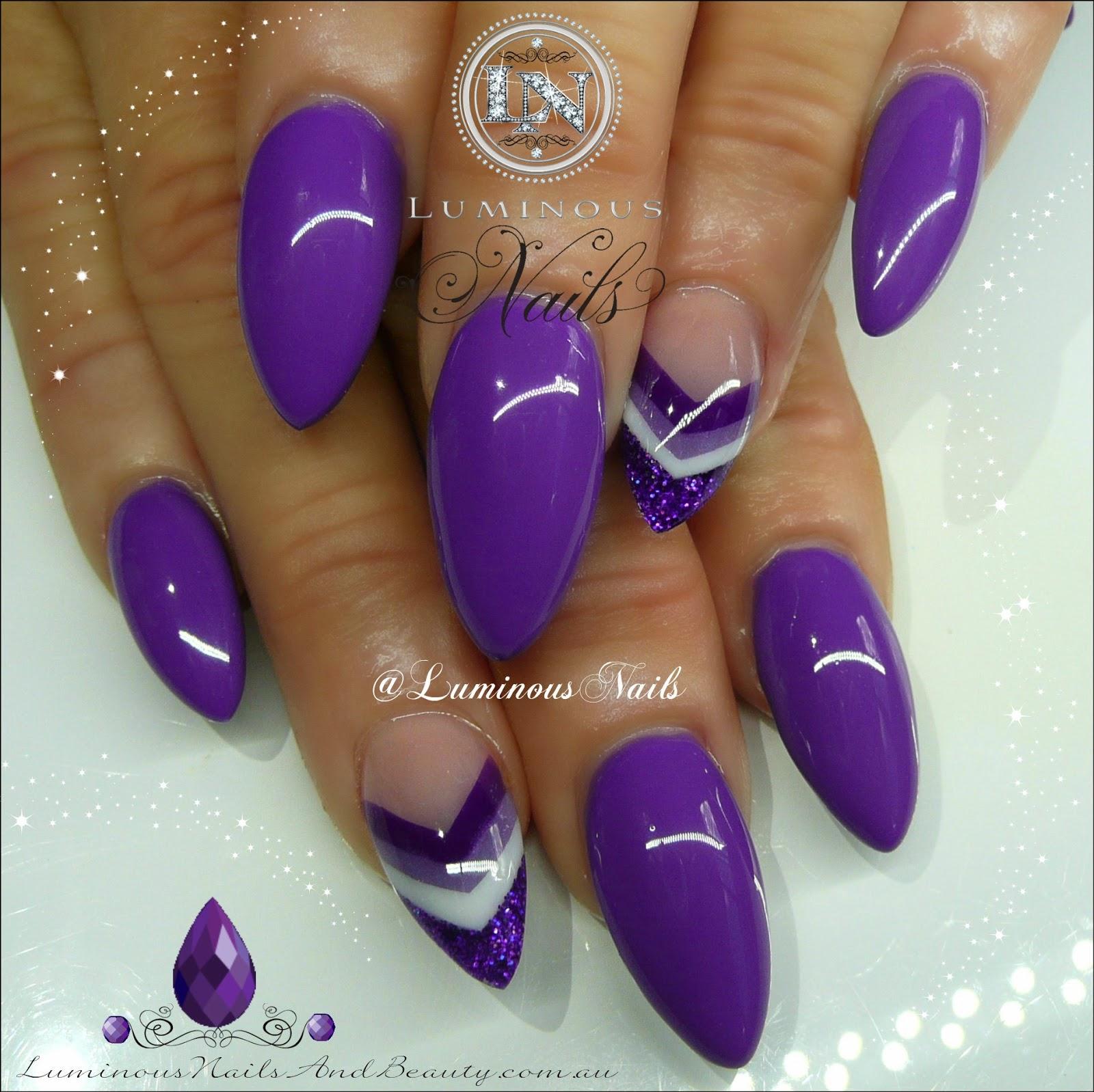 Dark Purple Acrylic Nails - More information - Djekova