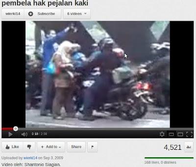 Perempuan Misterius di Youtube Pembela Hak Pejalan Kaki