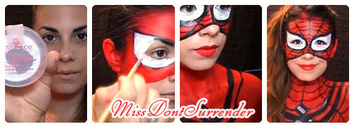 Maquillaje de Spider-girl Por Miss Dont Surrender collage