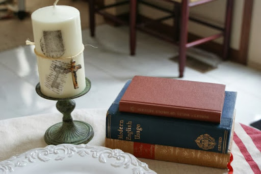 DIY Stamped Candle