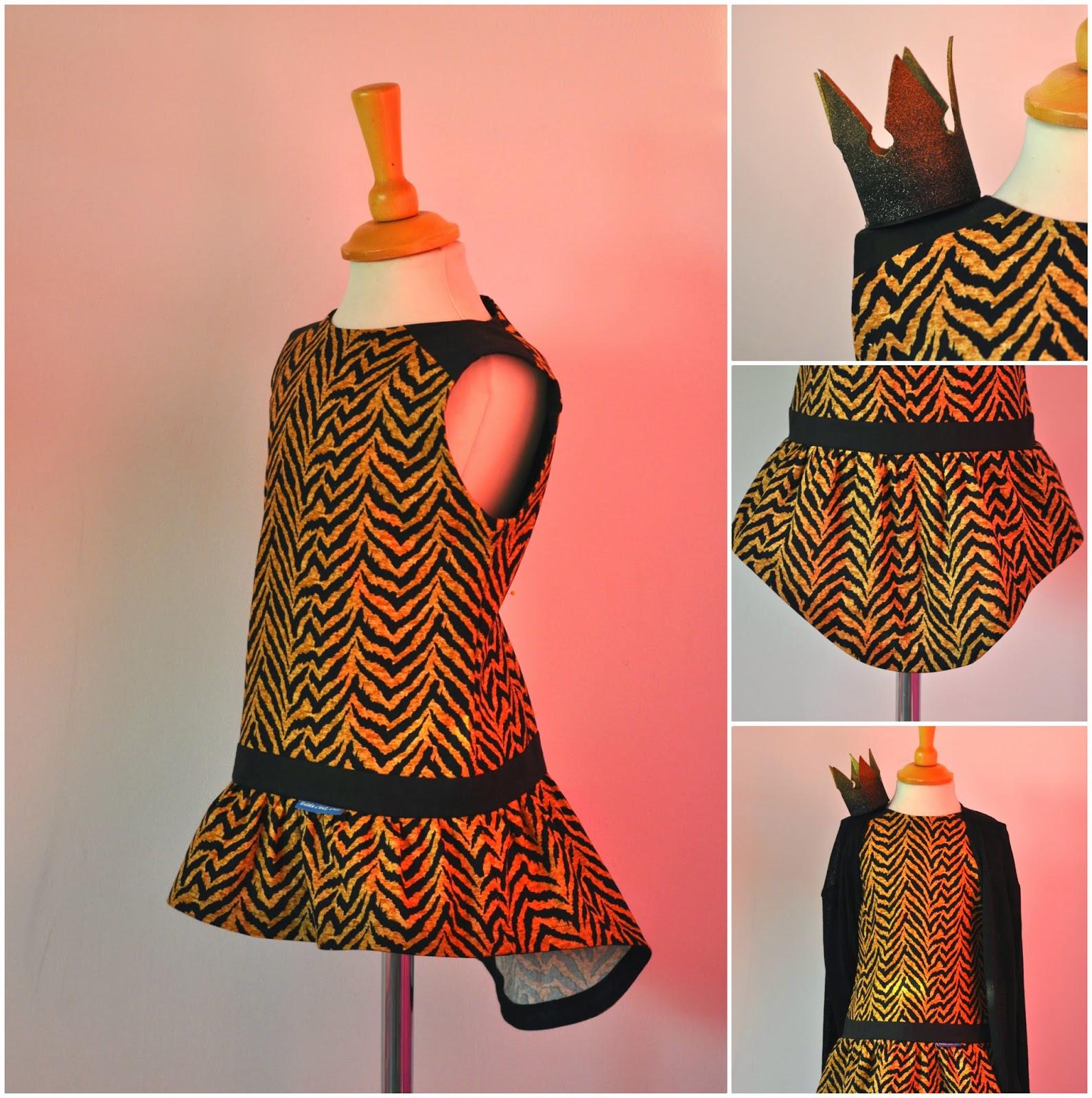DIY topje naaien sewing SVDHZ stof voor durf het zelvers tigerskin tijgerprintstof michael miller