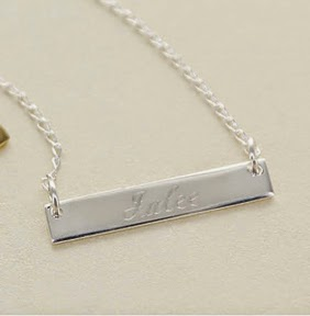 Silver Bar Personalized ID tag Necklace